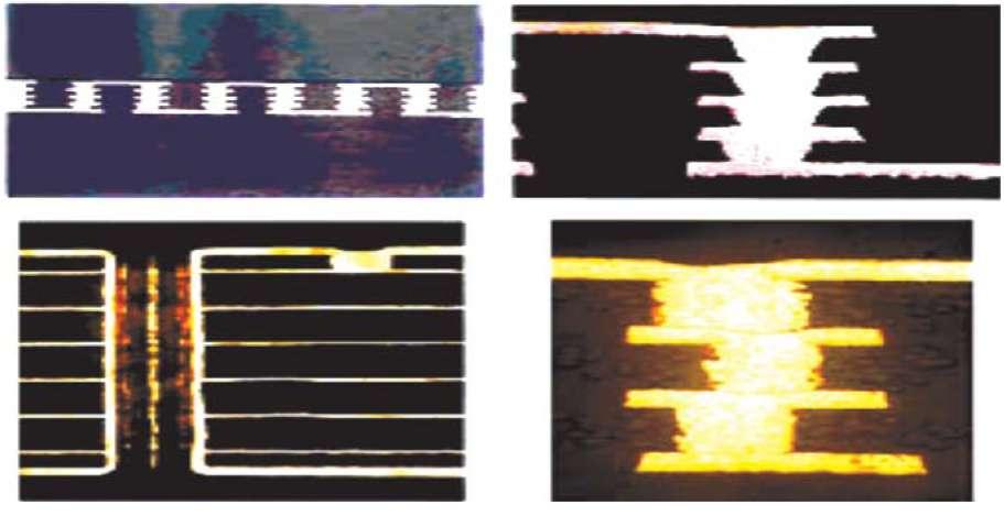 Межслойные переходы, выполненные металлонаполненными глухими отверстиями