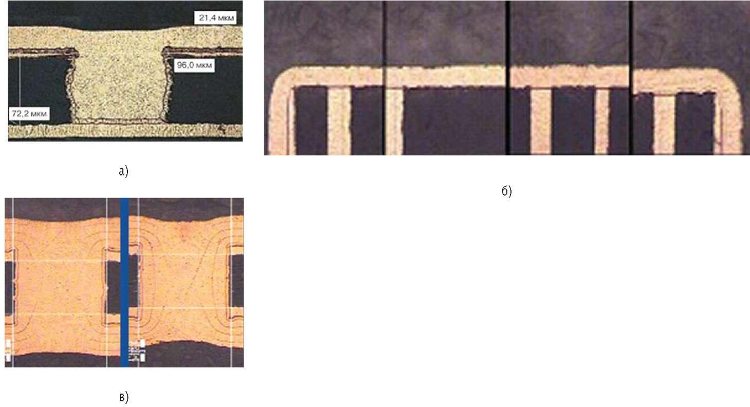 Иллюстрация результатов металлизации при реверсировании тока