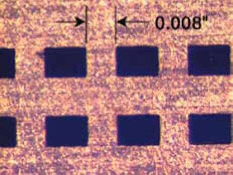 Фото трафарета, выполненного лазерной резкой