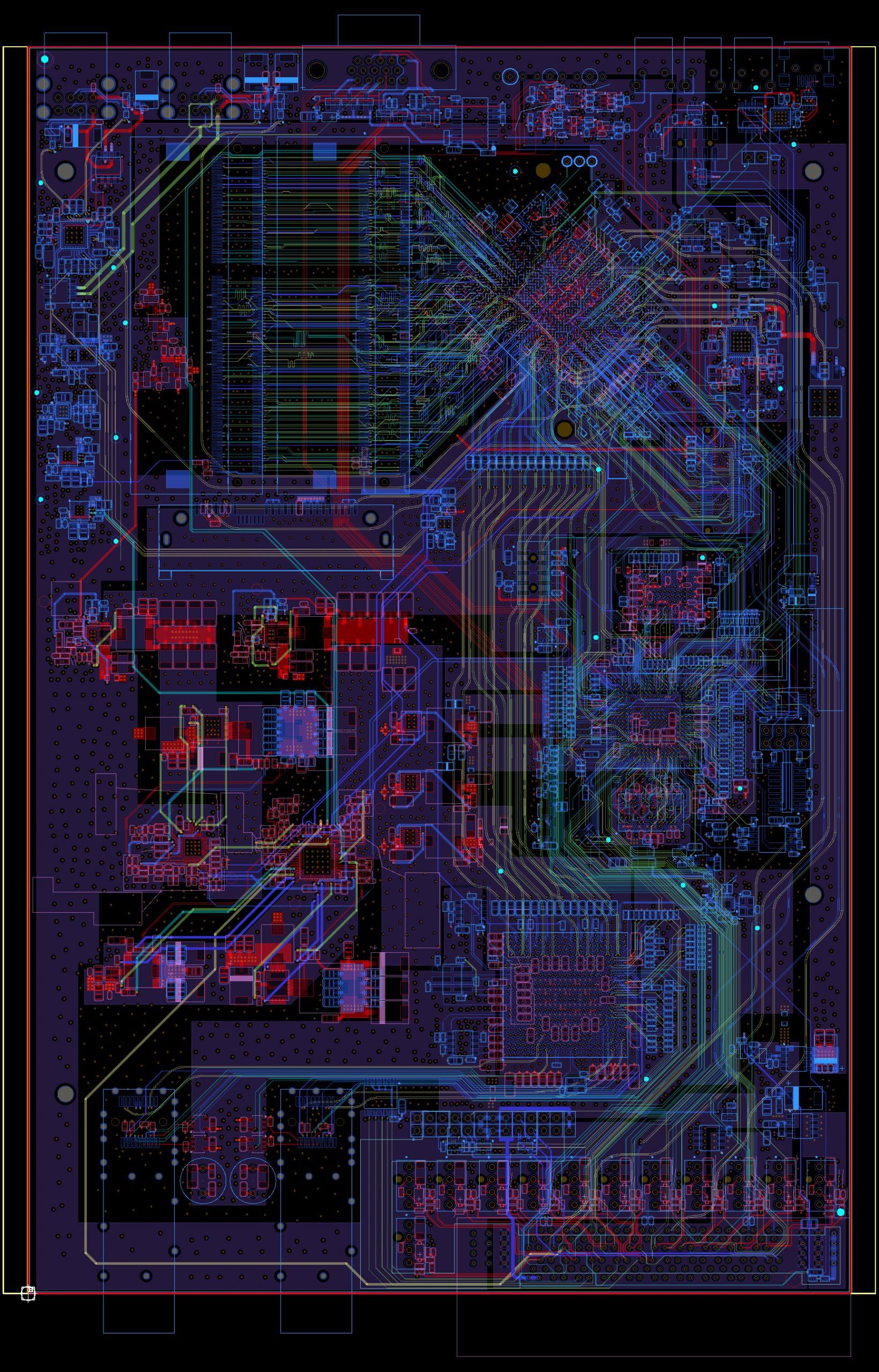 Проектирование топологии ПП Intel